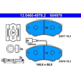 Комплект спирачно феродо, дискови спирачки Артикул № 13.0460-4978.2 370,00BGN