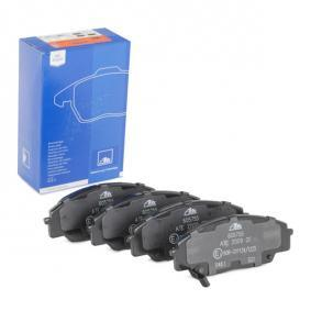 Brake Pad Set, disc brake Width: 135,3mm, Height: 52,4mm, Thickness: 16,6mm with OEM Number 45022S2AE50