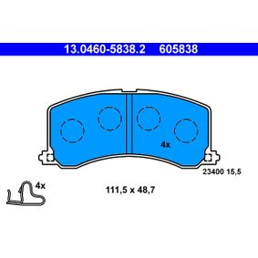 Regulador de Presión de Combustible SUZUKI BALENO Fastback (EG) 1.6 i 16V 4x4 de Año 07.1995 98 CV: Juego de pastillas de freno (13.0460-5838.2) para de ATE