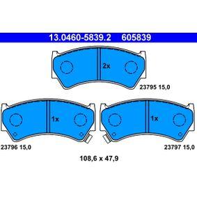 Regulador de Presión de Combustible SUZUKI BALENO Fastback (EG) 1.6 i 16V 4x4 de Año 07.1995 98 CV: Juego de pastillas de freno (13.0460-5839.2) para de ATE
