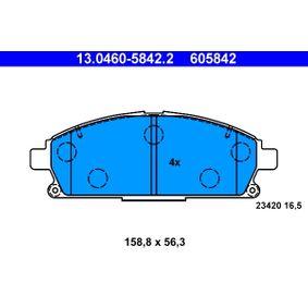 Bremsbelagsatz, Scheibenbremse Art. Nr. 13.0460-5842.2 120,00€