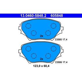 Bremsbelagsatz, Scheibenbremse Art. Nr. 13.0460-5848.2 120,00€