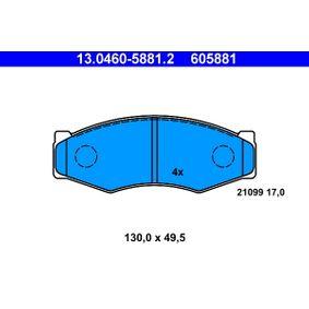 Bomba de Inyección NISSAN SERENA (C23M) 2.3 D de Año 01.1995 75 CV: Juego de pastillas de freno (13.0460-5881.2) para de ATE