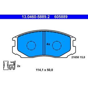 Bremsbelagsatz, Scheibenbremse Art. Nr. 13.0460-5889.2 120,00€