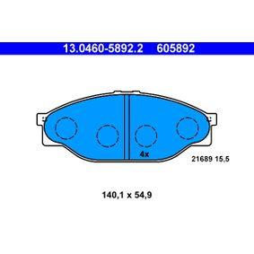 Bremsbelagsatz, Scheibenbremse Art. Nr. 13.0460-5892.2 120,00€