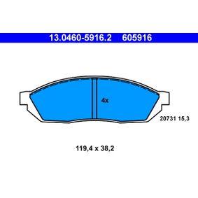 Bremsbelagsatz, Scheibenbremse Art. Nr. 13.0460-5916.2 120,00€
