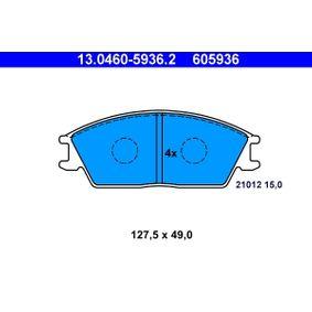 Bremsbelagsatz, Scheibenbremse Breite: 127,5mm, Höhe: 49,0mm, Dicke/Stärke: 15,0mm mit OEM-Nummer 58101 24B00
