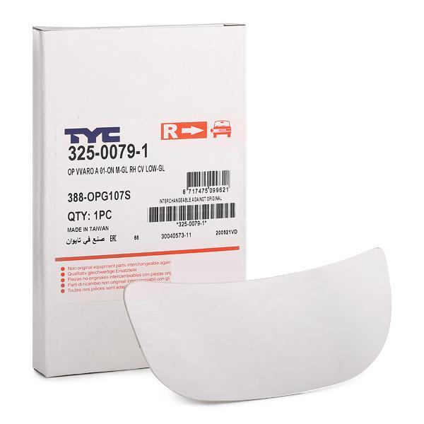 Außenspiegelglas 325-0079-1 TYC 325-0079-1 in Original Qualität
