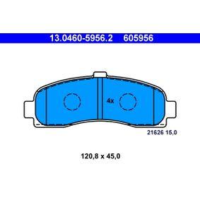 Σετ τακάκια, δισκόφρενα 13.0460-5956.2 MICRA 2 (K11) 1.3 i 16V Έτος 1993