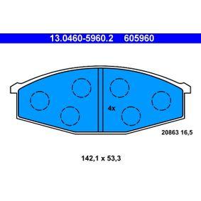 Composants Boite De Vitesse NISSAN PATROL GR I (Y60, GR) 4.2 CAT de Année 11.1988 165 CH: Jeu de plaquettes de frein, frein à disque (13.0460-5960.2) pour des ATE