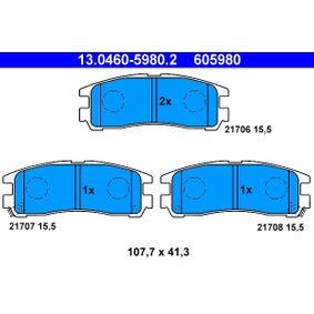Kit pastiglie freno, Freno a disco 13.0460-5980.2 L 400 Bus (PD_W, PC_W, PA_V, PB_V, PA_W) 2.5 TD 4WD ac 2000
