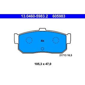 Bremsbelagsatz, Scheibenbremse Breite: 105,3mm, Höhe: 47,0mm, Dicke/Stärke: 16,5mm mit OEM-Nummer 44060 5M490