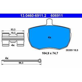 Bremsbelagsatz, Scheibenbremse Art. Nr. 13.0460-6911.2 120,00€