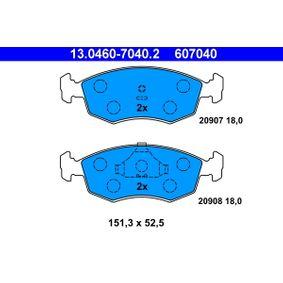 ATE Bremsbelagsatz, Scheibenbremse 13.0460-7040.2 für FORD SCORPIO I (GAE, GGE) 2.9 i ab Baujahr 09.1986, 145 PS