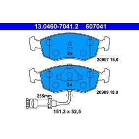 ATE Bremsbelagsatz, Scheibenbremse 13.0460-7041.2 für FORD SCORPIO I (GAE, GGE) 2.9 i ab Baujahr 09.1986, 145 PS