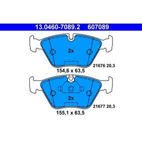Bremsbelagsatz, Scheibenbremse Breite 1: 155,1mm, Breite 2: 154,6mm, Höhe 2: 63,5mm, Dicke/Stärke: 20,3mm mit OEM-Nummer 34112157588
