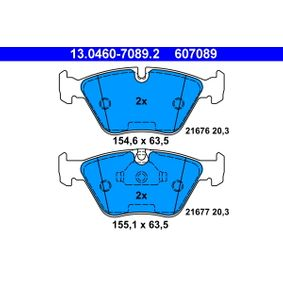 BMW E39 Touring 523i Bremsbeläge ATE 13.0460-7089.2 (523i 2.5 Benzin 2000 M52 B25 (256S4))