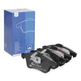 Motorhalter für VW TRANSPORTER IV Bus (70XB, 70XC, 7DB, 7DW) 2.5 TDI 102 PS ab Baujahr 09.1995 ATE Bremsbelagsatz, Scheibenbremse (13.0460-7102.2) für