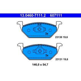 Abgasrückführventil für VW GOLF IV (1J1) 1.6 100 PS ab Baujahr 08.1997 ATE Bremsbelagsatz, Scheibenbremse (13.0460-7111.2) für