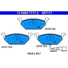 ATE Bremsbelagsatz, Scheibenbremse 13.0460-7117.2 für AUDI A3 (8P1) 1.9 TDI ab Baujahr 05.2003, 105 PS