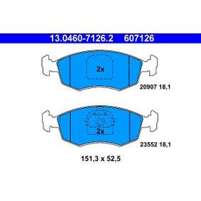 Bremsbelagsatz, Scheibenbremse Breite: 151,3mm, Höhe: 52,5mm, Dicke/Stärke: 18,1mm mit OEM-Nummer 9949125