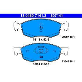 Bremsbelagsatz, Scheibenbremse Höhe 1: 151,3mm, Höhe 2: 150,1mm, Höhe: 52,5mm, Dicke/Stärke: 18,1mm mit OEM-Nummer 9 948 870