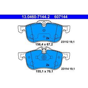 Kit pastiglie freno, Freno a disco (13.0460-7144.2) per per Pezzo per Bloccaggio ROVER 75 (RJ) 1.8 dal Anno 02.1999 120 CV di ATE