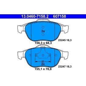Bremsbelagsatz, Scheibenbremse 13.0460-7158.2 Scénic 1 (JA0/1_, FA0_) 1.9 dCi RX4 Bj 2001