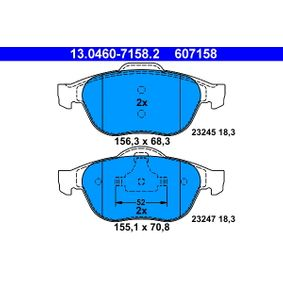 Bremsbelagsatz, Scheibenbremse Art. Nr. 13.0460-7158.2 120,00€