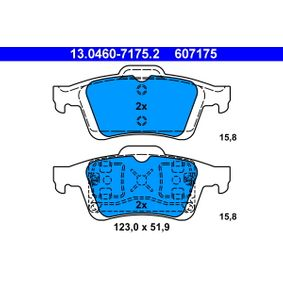 Brake Pad Set, disc brake 13.0460-7175.2 V40 Hatchback (525, 526) 1.6 D2 MY 2017