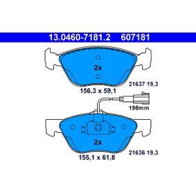 Bremsbelagsatz, Scheibenbremse Art. Nr. 13.0460-7181.2 120,00€