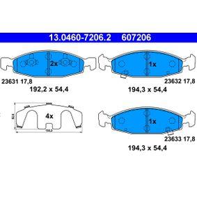Válvula EGR JEEP GRAND CHEROKEE II (WJ, WG) 2.7 CRD 4x4 de Año 10.2001 163 CV: Juego de pastillas de freno (13.0460-7206.2) para de ATE