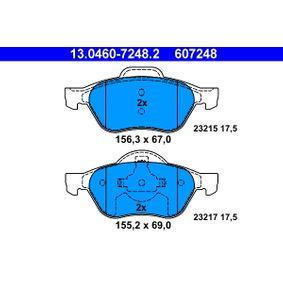 Bremsbelagsatz, Scheibenbremse 13.0460-7248.2 TWINGO 2 (CN0) 1.6 RS Bj 2013