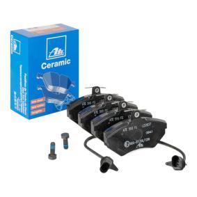 ATE Bremsbelagsatz, Scheibenbremse 13.0470-2837.2 für AUDI A4 (8E2, B6) 1.9 TDI ab Baujahr 11.2000, 130 PS