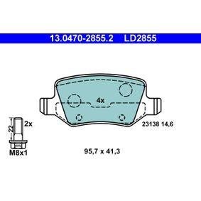 Bremsbelagsatz, Scheibenbremse Art. Nr. 13.0470-2855.2 120,00€