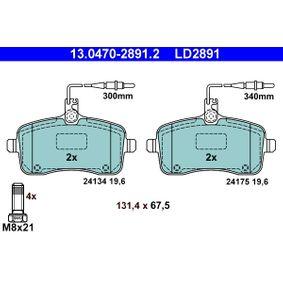 Bremsbelagsatz, Scheibenbremse Breite: 131,4mm, Höhe: 67,5mm, Dicke/Stärke: 19,6mm mit OEM-Nummer 425478