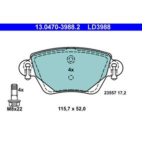 Bremsbelagsatz, Scheibenbremse Art. Nr. 13.0470-3988.2 120,00€