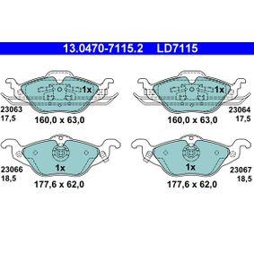 Bremsbelagsatz, Scheibenbremse Art. Nr. 13.0470-7115.2 120,00€