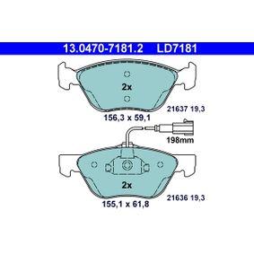 Bremsbelagsatz, Scheibenbremse Art. Nr. 13.0470-7181.2 120,00€