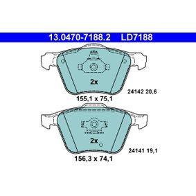 Bremsbelagsatz, Scheibenbremse Art. Nr. 13.0470-7188.2 120,00€