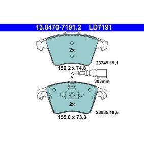 Bremsbelagsatz, Scheibenbremse Art. Nr. 13.0470-7191.2 120,00€