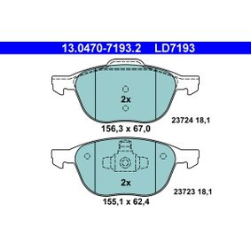 Brake Pad Set, disc brake 13.0470-7193.2 V40 Hatchback (525, 526) 1.6 D2 MY 2019