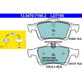 Brake Pad Set, disc brake 13.0470-7195.2 V40 Hatchback (525, 526) 1.6 D2 MY 2014