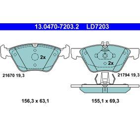 Bremsbelagsatz, Scheibenbremse Art. Nr. 13.0470-7203.2 120,00€