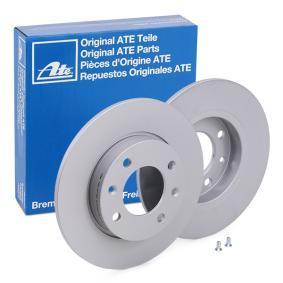 Pedales y Cubre Pedales PEUGEOT 307 SW (3H) 1.6 BioFlex de Año 09.2007 109 CV: Disco de freno (24.0109-0137.1) para de ATE