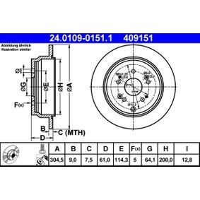 Brake Disc 24.0109-0151.1 CR-V 2 (RD) 2.0 MY 2005