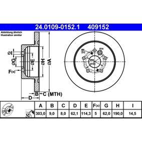 Brake Disc 24.0109-0152.1 RAV 4 II (CLA2_, XA2_, ZCA2_, ACA2_) 2.4 4WD MY 2003