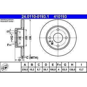 Disco de travão Número do artigo 24.0110-0193.1 130,00€