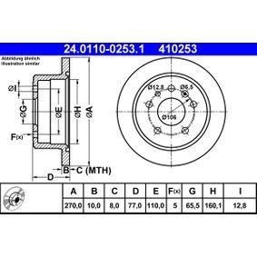 Disque de frein N° de référence 24.0110-0253.1 120,00€