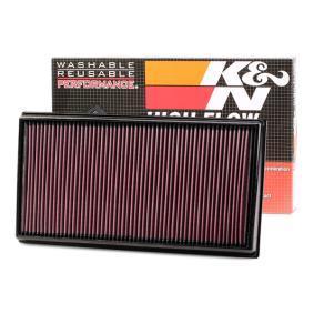 K&N Filters  33-3033 Luftfilter Länge: 411mm, Breite: 217mm, Höhe: 35mm